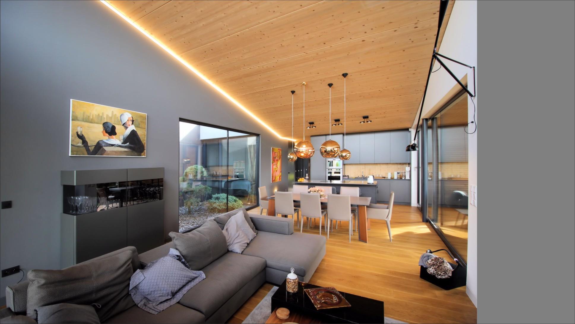 CLT drevodom Čuňovo denná časť domu